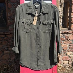NEW Natural Reflections Button-Front Shirt Size S